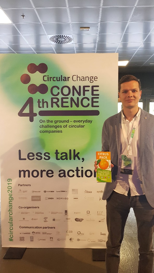 Life CITRUSPACK at the circular change conference in Maribor